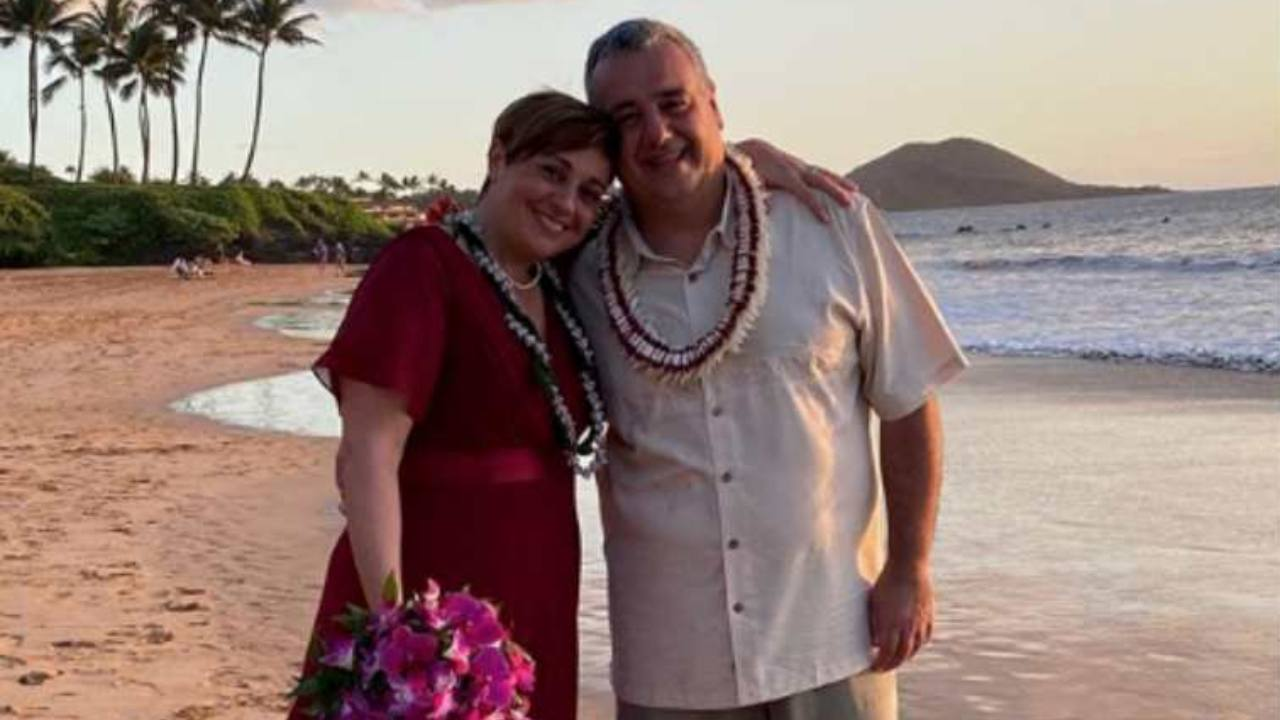 Benedetta Rossi e il marito Marco alle Huawaii