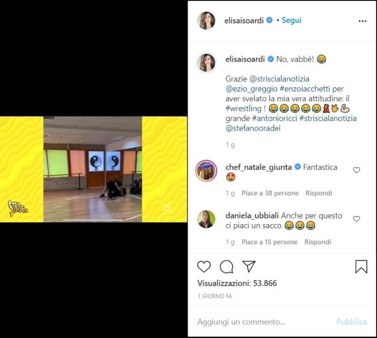 Elisa Isoardi brutta caduta - Solonotizia24