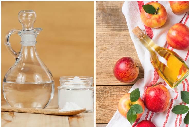 Capelli come lavarli Bicarbonato e aceto di mele-sidro-SoloNotizie24.it
